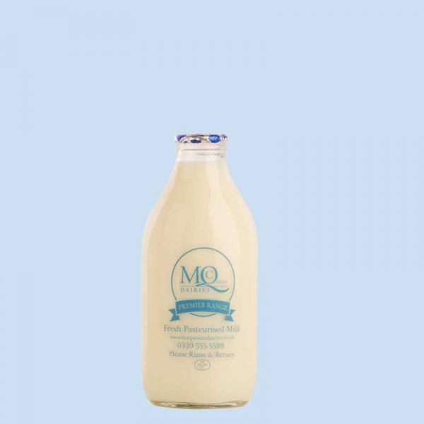 mcqueens milk glass bottles