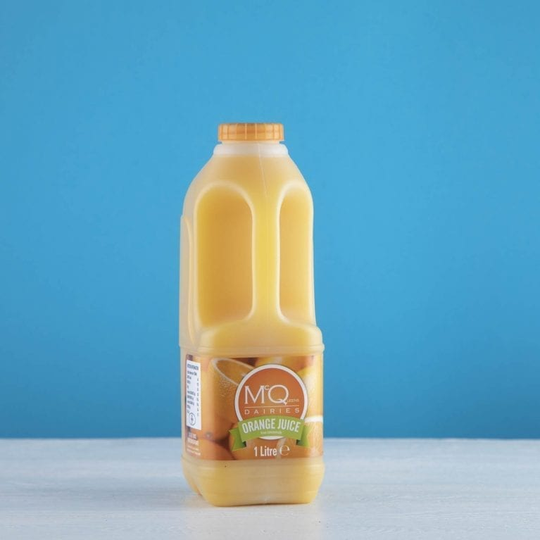 mcqueens orange juice