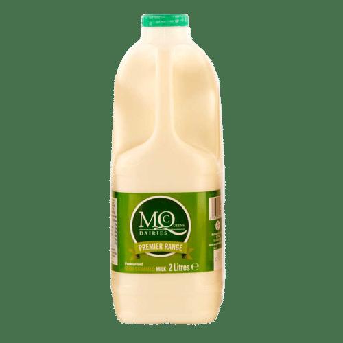 Milk delivery green semi skimmed