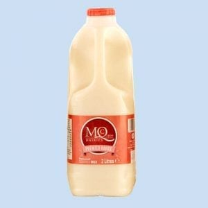 2 litre skimmed milk plastic