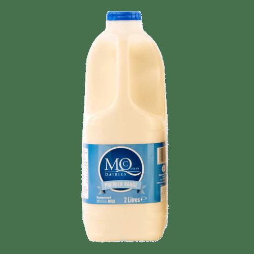 Milk delivery blue whole milk