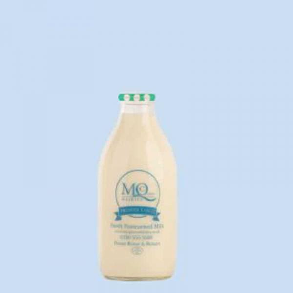 organic milk glass bottles