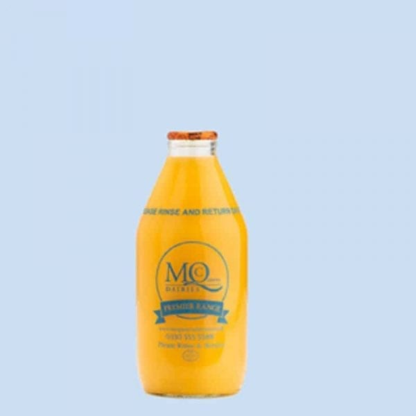 orange juice glass bottles