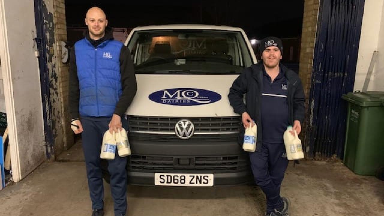 Our Milkmen stopped a Burglary last night in Warrington