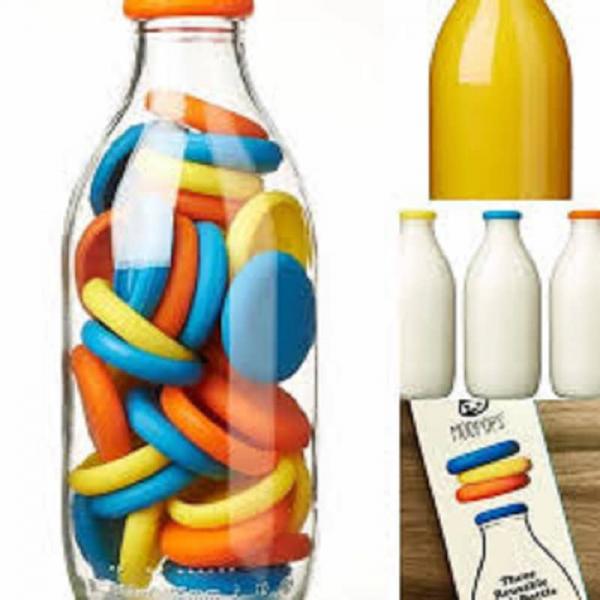 glass milk bottle top
