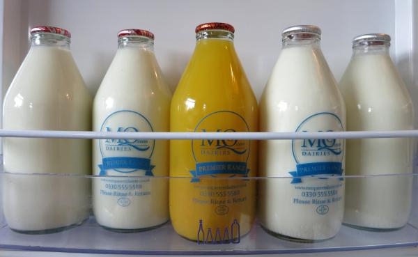 glass milk fridge
