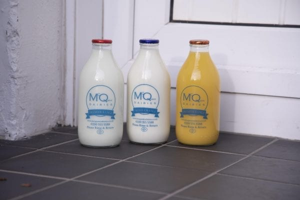 Glass bottle milk delivery