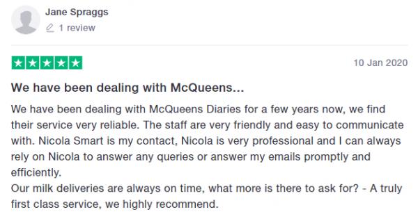 McQueens Dairies Reviews