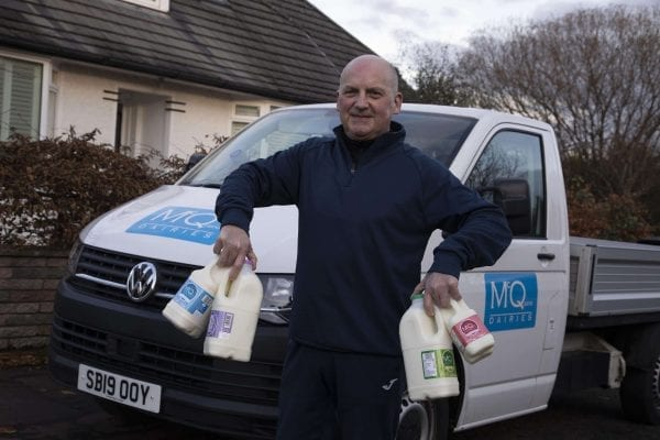 Milk delivery McQueens Dairies