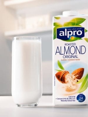 Alpro almond milk delivery