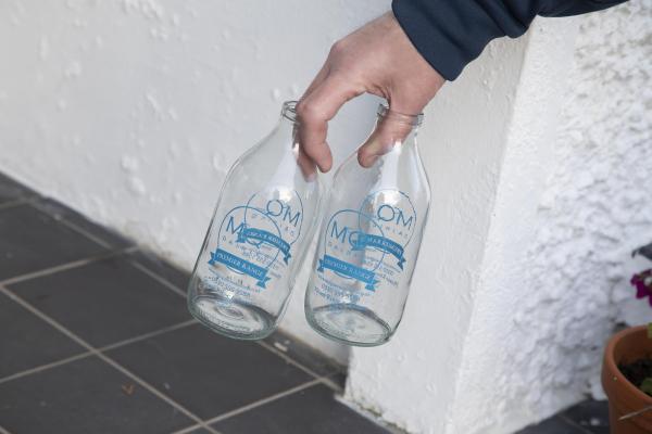 McQueens Dairies Glass Bottles