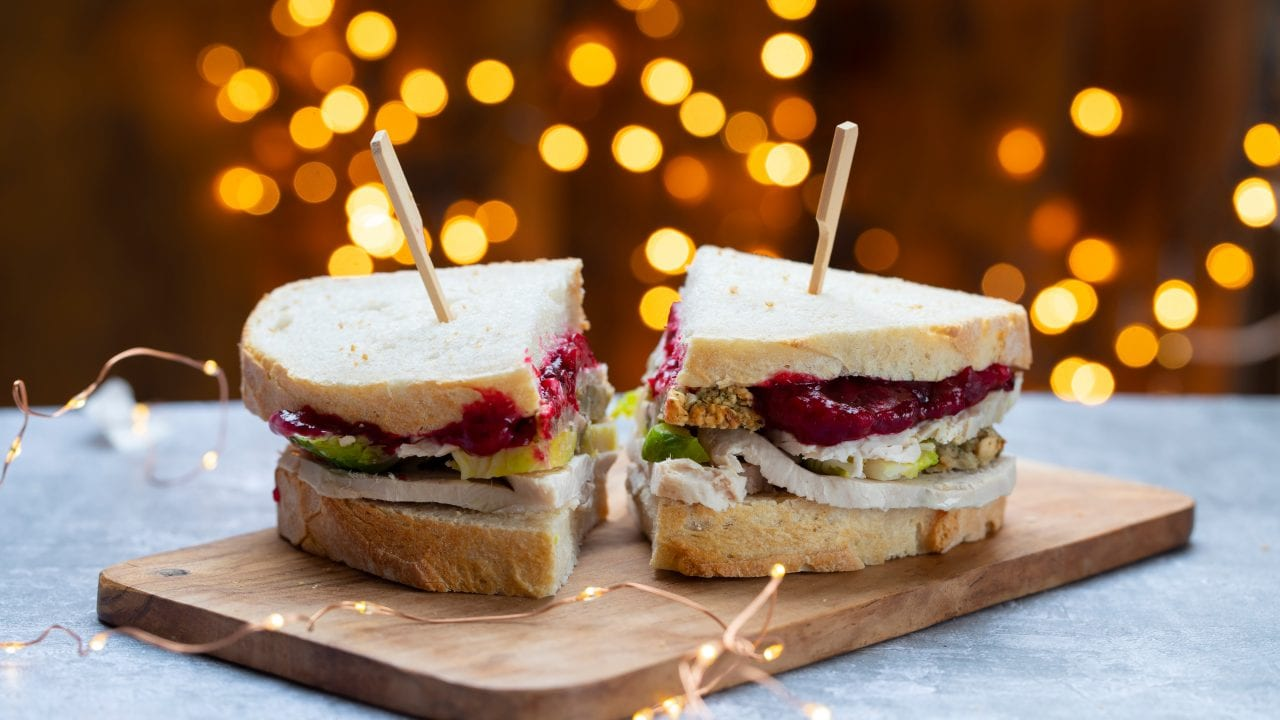 Christmas Leftover Sandwich