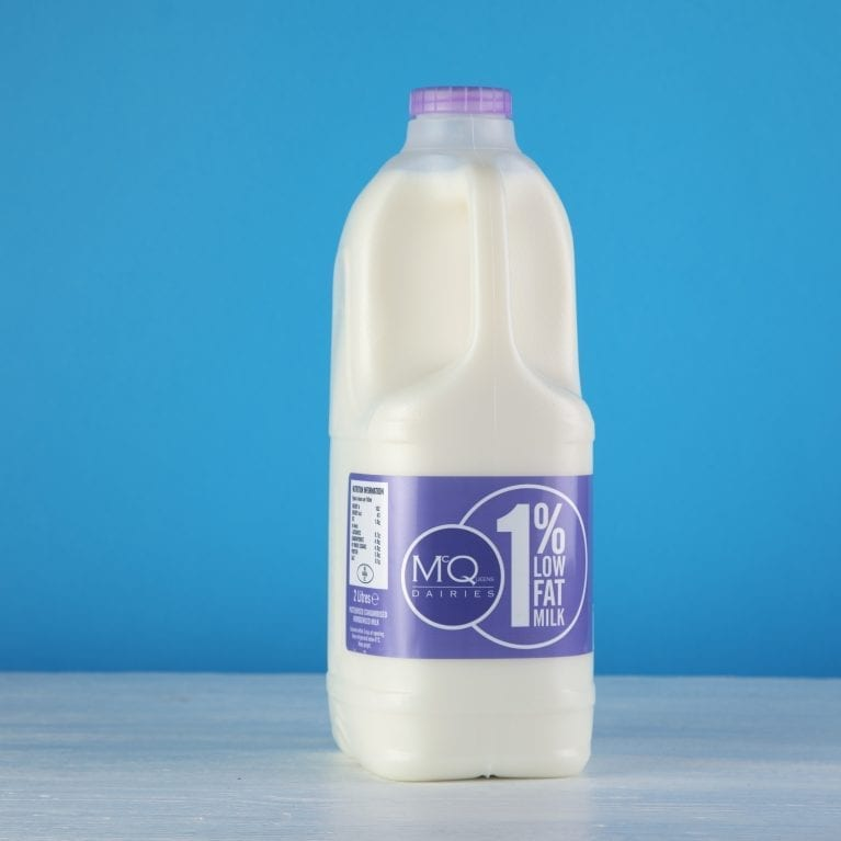 McQueens Dairies 1% low fat milk