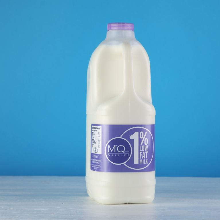 McQueens Dairies 1% low fat milk
