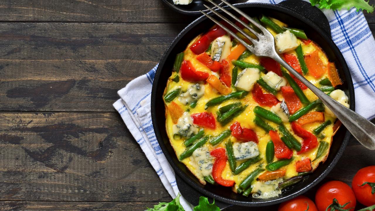 Stir-fried Vegetable Omelette