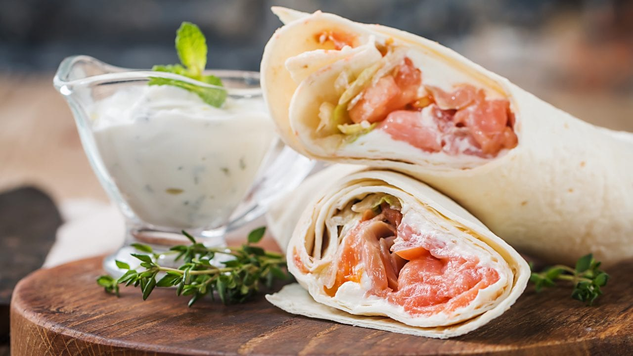 Salmon and Egg Breakfast Wrap Recipe