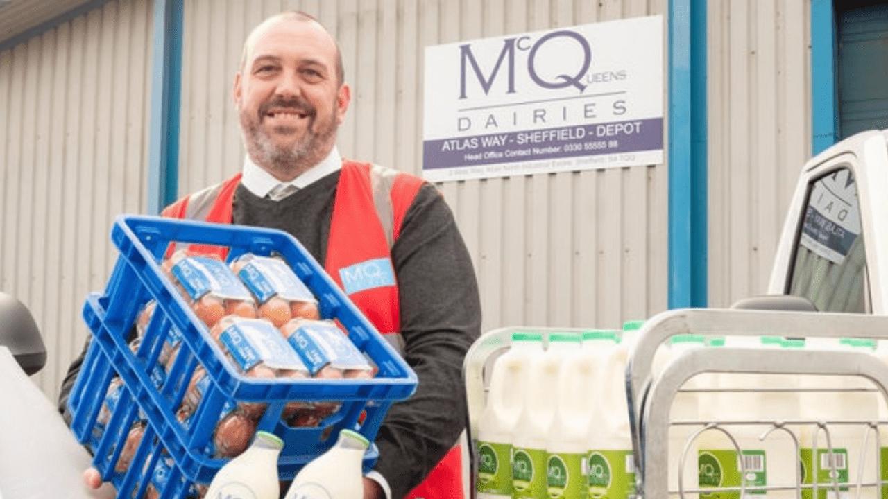 Milk Delivery Demand at McQueens Dairies new depot in Sheffield