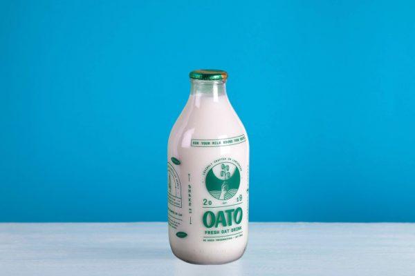 oat milk glass bottles