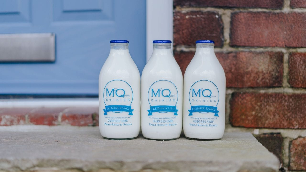 Local milkman delivery with McQueens Dairies