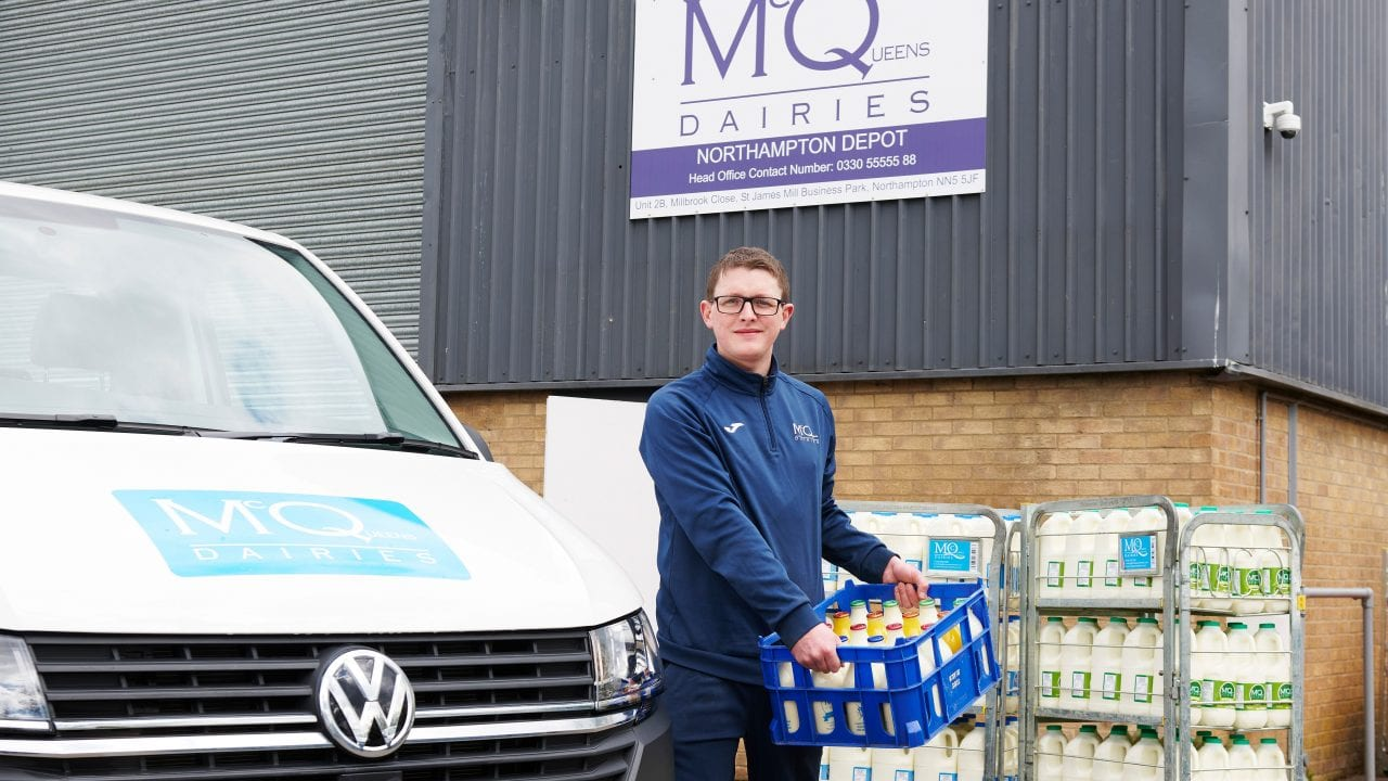 Milk Delivery Demand at McQueens Dairies new depot in Northampton