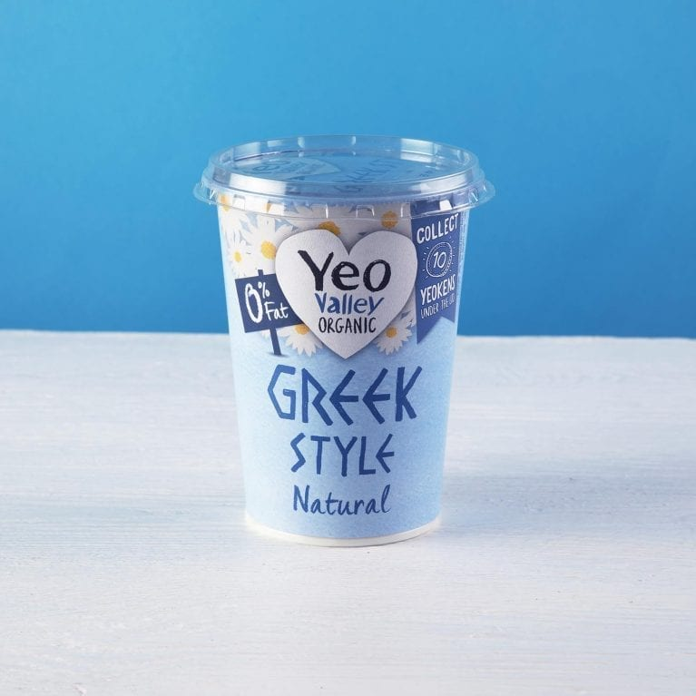 Yeo Valley Greek Style 0% fat yogurt