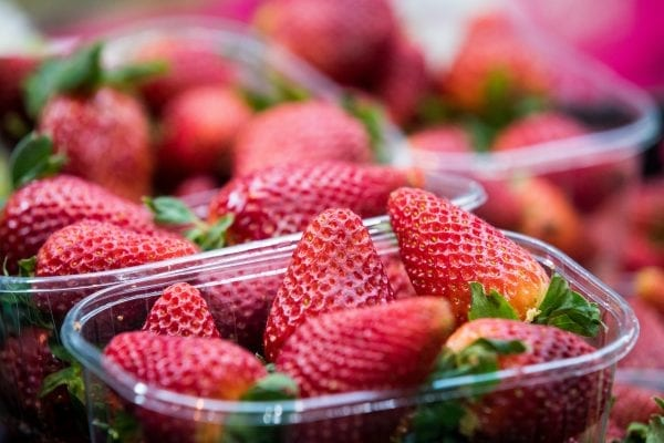McQueens Dairies free strawberries
